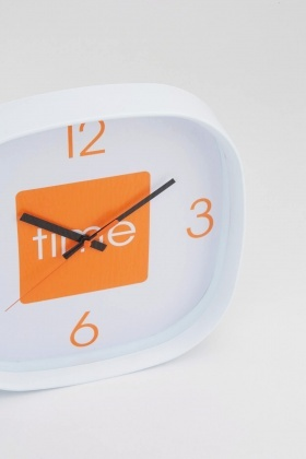 Orange Arco Wall Clock