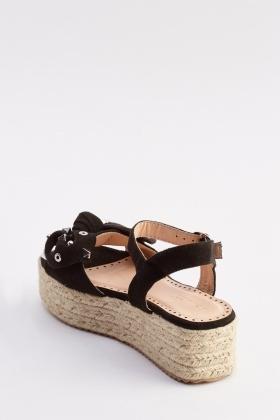 62a9a151e06c Studded Bow Platform Espadrille Sandals - Just £5