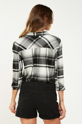 Casual Tartan Checked Shirt
