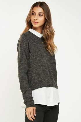 Shirt Insert Knitted Top
