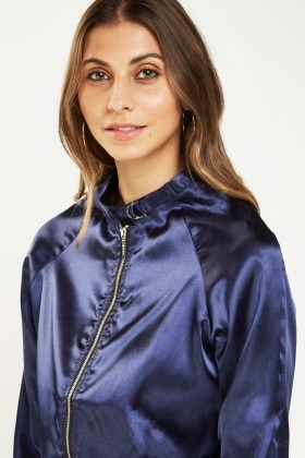 Thin Sateen Bomber Jacket