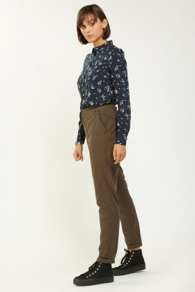 Casual Straight Fit Chino Trousers