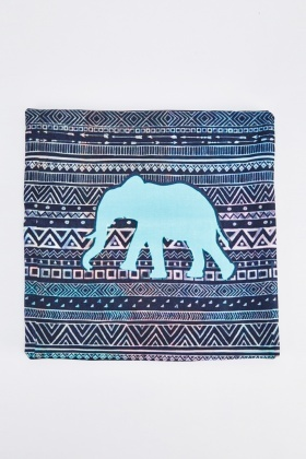 Elephant Aztec Print Cushion