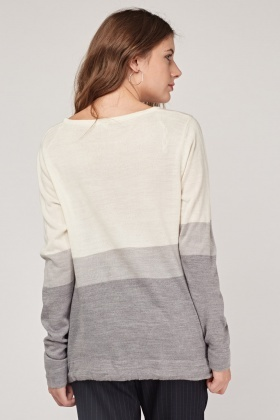 Fine Knitted Colour Block Sweater