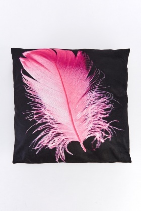 Feather Printed Cushion