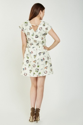 Novelty Print Tunic Dress