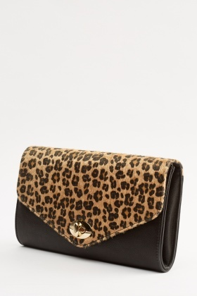 Leopard Print Clutch Bag Just 6