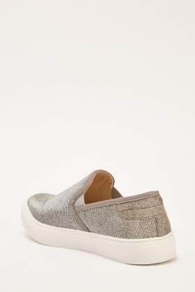 Slip-On Lurex Plimsolls