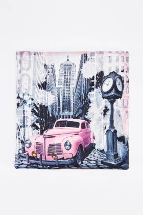 City Car Graphic Cushion