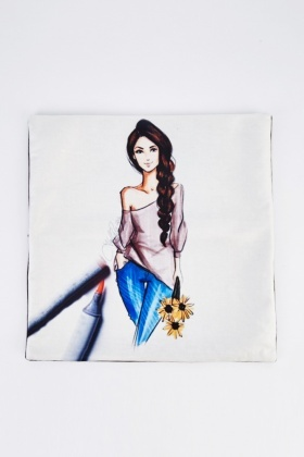 Fashion Girl Graphic Cushion