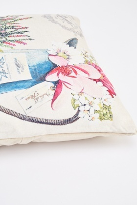 Garden Flower Graphic Cushion
