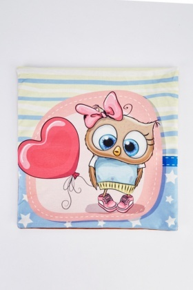 Girly Owl Graphic Cushion