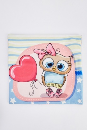 Mixed Owl Printed Cushion