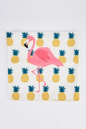 Pineapple Flamingo Cushion