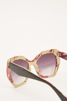 Printed Butterfly Sunglasses