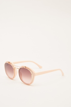 Retro Round Framed Sunglasses