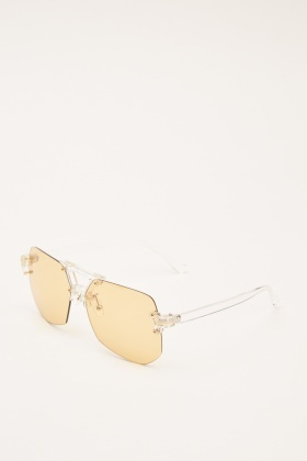 Thin Mirrored Sunglasses