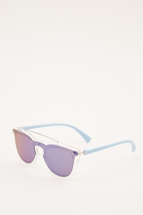 Transparent Mirrored Cat Eye Sunglasses