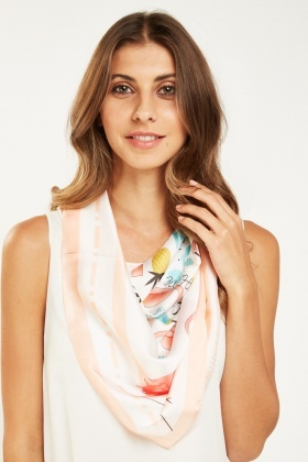 Tropical Mixed Print Scarf