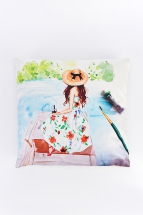 Water Coloured Painting Cushion