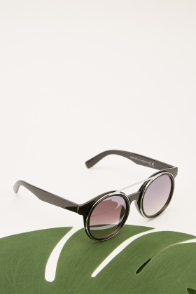 Framed Front Contrast Sunglasses