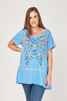 Graphic Front Casual Top