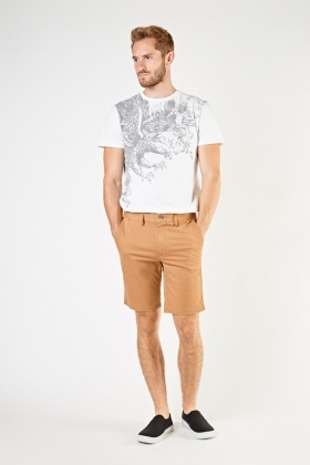 Mens Casual Chino Shorts
