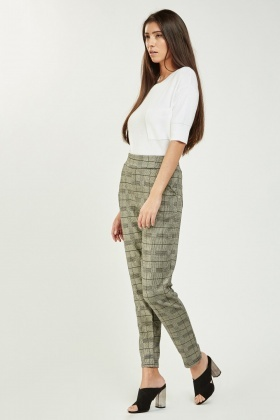 Slim Fit Glen Check Trousers