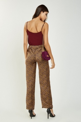 Straight Fit Speckle Print Trousers