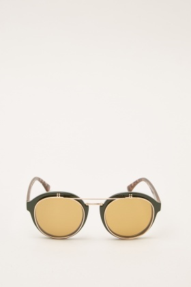 Tortoise Mixed Framed Sunglasses