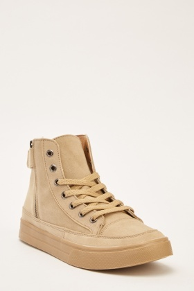 Mens Suedette High Top Plimsolls