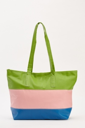 Multi Striped Shopper Bag
