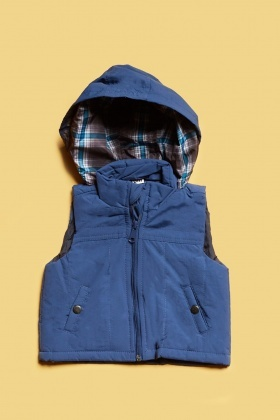 Dark Blue Hooded Bodywarmer