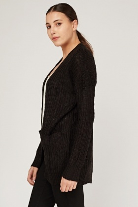 Long Chunky Knit Cardigan