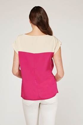 Two-Tone Shell Top
