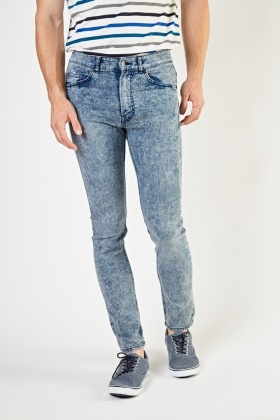 Washed Blue Skinny Jeans