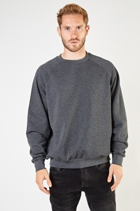 Dark Grey Basic Sweater