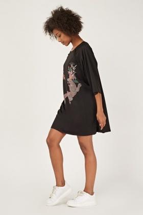 28350eb296b Printed Oversized T-Shirt Dress - Just £5
