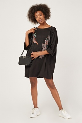 Printed Oversized T-Shirt Dress