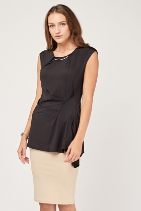 D-Ring Trim Draped Top