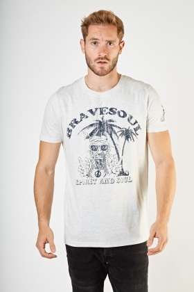 Graphic Front Casual T-Shirt