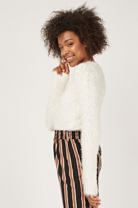 Textured Eyelash Knit Jumper
