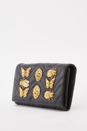 Animal Embellished Clutch Bag