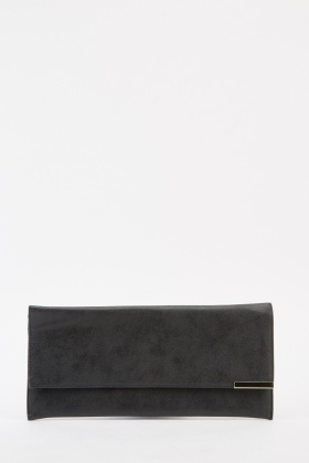 Classic Faux Leather Clutch Bag