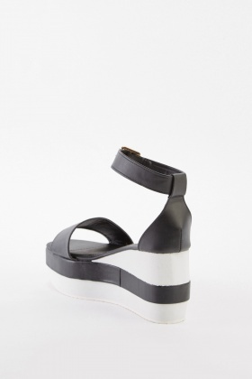 Colour Block Platform Sandals