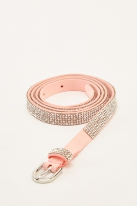Encrusted Contrast Belt