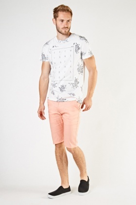 Light Salmon Chino Shorts