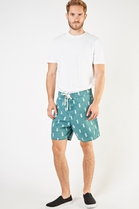 Pineapple Print Shorts