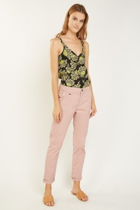 Dusty Pink Chino Trousers