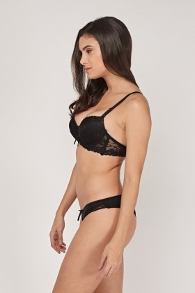 Scallop Trim Bra And Brief Set